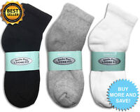 3, 6, 12 Pairs of Ankle Socks for Diabetics Loose Fit Top Circulatory All Sizes