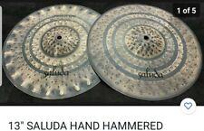 "13"" Saluda Hand Hammered Prototype Sound Edge Hi Hat Cymbals - Crisp Hats"