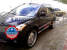 "fits 2003-2007 Nissan Murano 4Pc Chrome Flat Body Side Molding Trim 7/8"""