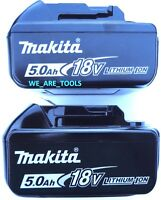 (2) New Genuine Makita BL1850B-2 18V Batteries 5.0 AH LED Gauge 18 Volt LXT