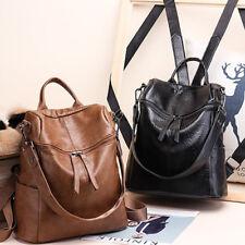 Women Real Soft Leather Shoulder Bags Ladies Backpack Handbag Messenger Tote