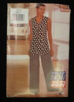 1994 See & Sew Butterick 3538 PATTERN Top Pants Size 6 8 10 Uncut