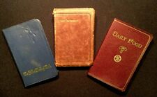 3 Vintage Christian Books ~ Pocket Book of Faith, New Testament & Daily Food