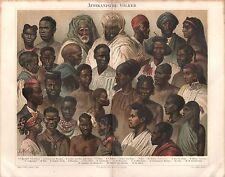 Afrika Afrikanische Völker Stämme Berber Suaheli 1896 Völkerstämme
