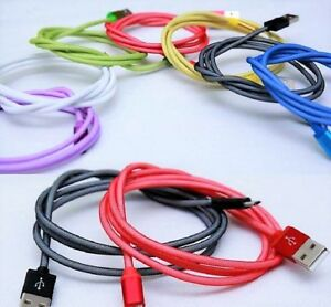 Fishnet mesh fabric braided USB data sync charging cable for iPhones