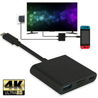1080P 4K HDMI Adapter For Nintendo Switch USBC HDMI Converter Type-C  HubAdapter
