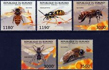 HONEY BEES, WASPS & HORNETS Insect Stamp Set (2012 Burundi)