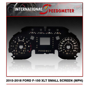 2015 - 2018 Ford F-150 XLT Speedometer Faceplate Small Screen (MPH)