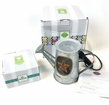 Scentsy Rustic Garden Metal Star Watercan Wax Warmer & Zen Garden Sand New Set