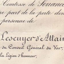 Jules Ernest Lescuyer D'Attainville 1882 Député du Var