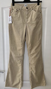 Urban Outfitters BDG Flare Corduroy Beige Jeans Size W29 L32 BNWT RRP £55