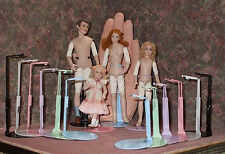 "Miniature Doll Stands for 3"" to 6 1/2"" tall"