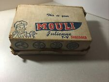 Vintage Mouli Salad Maker Chopper Slicer Shredder Grater. 5 Round Cutting Discs