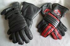 2 Paar Polo Sommer Winter Motorrad Biker Leder Handschuhe Gr. M