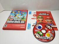 New Super Mario Bros. Wii (Nintendo Wii, 2009)  CIB Complete FREE SHIPPING!