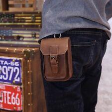 Men Waist PU Leather Travel Sling Bum Bag Male Money Pouch Leisure Belt Bag