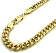 "7.50 Grams 6mm 8.50"" Mens 10k Yellow Real Gold Cuban Miami Curb Bracelet"