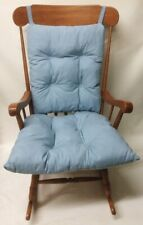 3 pc Blue Rocking Chair or Glider Over Sized Indoor Cushion Set Nursery Patio