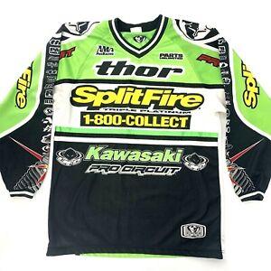 Vintage 1999 Thor Racing Splitfire Pro Circuit Kawasaki Motocross Jersey Large