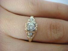 VINTAGE, 0.25CT DIAMOND ENGAGEMENT RING, 10K YELLOW GOLD 1.2 GRAMS, SIZE 6