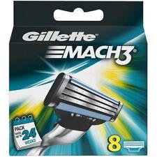Gillette Mach3 Manual Razor Men's Blades Replacement Refills - Pack of 8 Blades