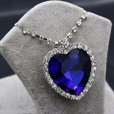 """Titanic Colgante """"El Corazón del Mar"""" Azul cristal Diamante Heart of the Ocean"""