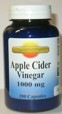 Apple Cider Vinegar 1000mg/serving 200 Capsules  Natural Weight Loss - Keto Diet