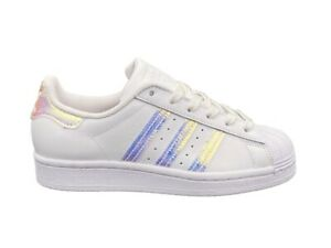 ADIDAS Superstar J Sneakers White Pink Glitter FV3139