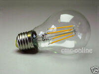 A60 Vintage 4W LED Filament Energy Saving Globe Bulbs ES/E27, 40W Equivalent