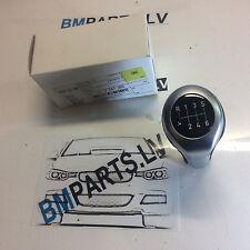 NEW GENUINE BMW GEAR SHIFT KNOB PERLGLANZ CHROM3 SERIES e90 e91 7547083
