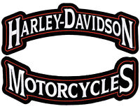 HARLEY DAVIDSON Harley Rockers Top Bottom rocker 12 INCH PATCH