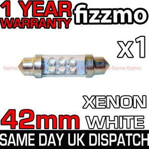 6 LED 264 42mm WHITE NUMBER PLATE INTERIOR LIGHT BULB