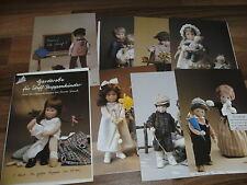 Christa Franck - Garderobe für Puppenkinder ca 50 cm groß / 6 Schnittmusterbogen