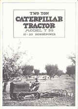 Two Ton Caterpillar Tractor Model T35 15-25 HP catalogue reprint