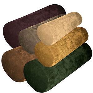 Ma-Sofa Velvet Style Bolster CASE Yoga/Tube/Neck Roll Cushion COVER Custom Size