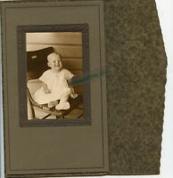Antique Photo - Cute Smiling Baby Sitting - 2 Teeth