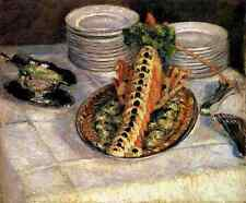 Caillebotte Gustave Still Life With Crayfish 5 A4 Print