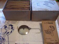 CANADIAN BAIT CO. SPOON LURE   dealer box of 12 NICKEL READ DESC.
