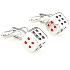 Silver Dice Set -High Quality Novelty Cufflink Wedding, Work or Special Occasion