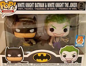 Funko Pop! White Knight Batman And White Knight Joker 2 Pack Px Exclusive DC