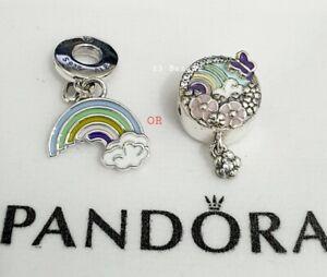 Genuine Pandora Rainbow Flower Butterfly Charm OR Rainbow Of Love Charm S925 ALE