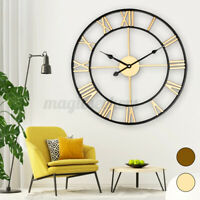 17.7 inch Large Retro European Style Home Garden Wall Clock Big Rom (