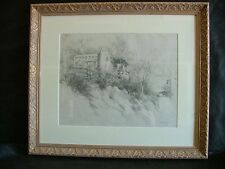 ORRIN A. WHITE 1883-1969 Listed Early California Plein Air Impressionist Drawing