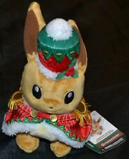 "9.5"" Christmas Eevee Official Pokemon Center Poke Plush Dolls Toys Xmas Gifts"