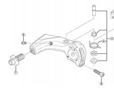 Shimano BL-T780 right hand lever axle unit
