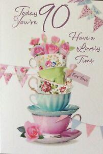 90th BIRTHDAY CARD FEMALE