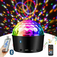 Disco Ball Bluetooth Music Active Strobe LED Party Night Stage Light Projector