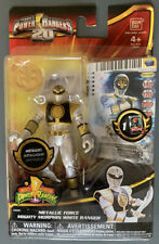 Metallic White Ranger Mighty Morphin Power Rangers Megaforce Bandai