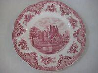 "Johnson Bros. England Pink Old Britain Castles Dinner Plate, 10"" Diameter"