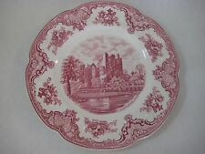 "Johnson Bros. England Pink Old Britain Castles Dinner Plate, 10"" Diameter"